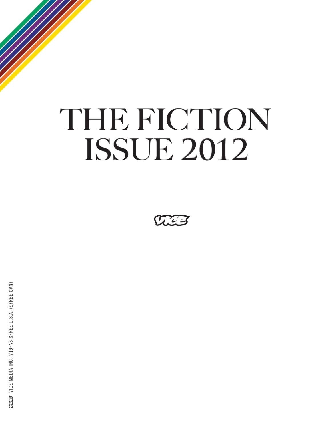 The Fiction Issue by VICE Media - issuu