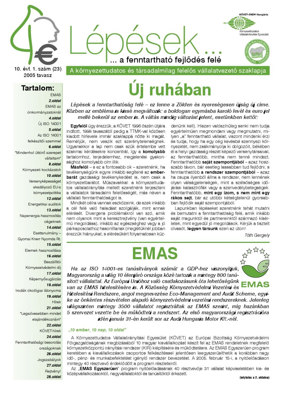 ef6c54655e Lépések a fenntarthatóság felé 23. by KOVET EGYESULET - issuu