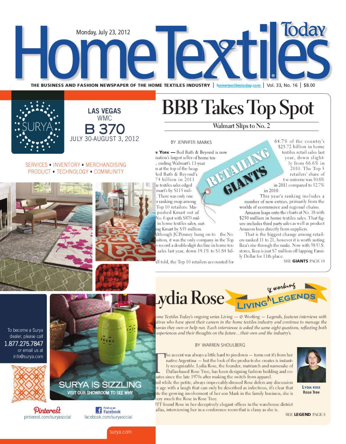 Home Textiles Today July 23rd Issue By Sandow Media Issuu