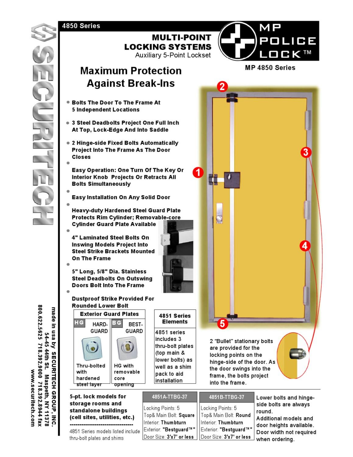 Cat Mp 4850 Police Lock By Securitech Group Inc Issuu