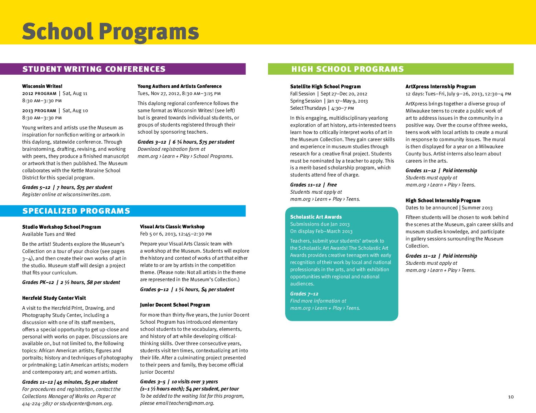 2012/13 School Teacher Programs by Milwaukee Art Museum - issuu