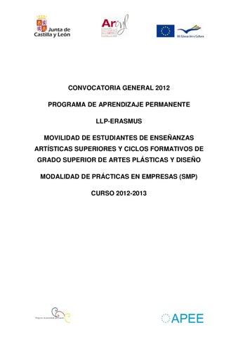 Convocatoria General 2012 Artecyl By Escuela De Arte Y