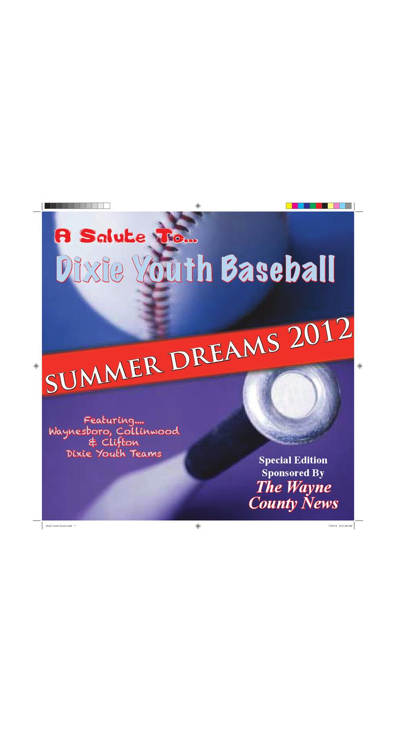 Wayne County News Dixie Youth Baseball Section 2012 By Chester  # Muebles Dixie Merida