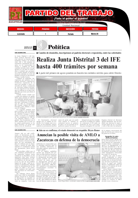 Síntesis Informativa 24 De Julio 2012 By Partido Del Trabajo