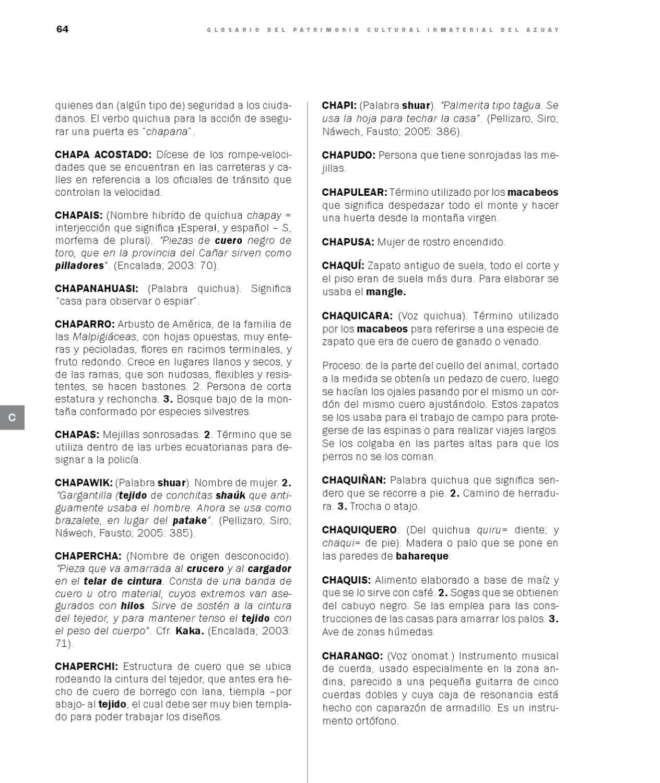 Glosario Patrimonio Inmaterial by INPC Ecuador - issuu