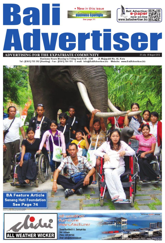 Ba 25 July 2012 By Bali Advertiser Issuu Patung Buddha Happy Natural Sandstone Brazil 7945