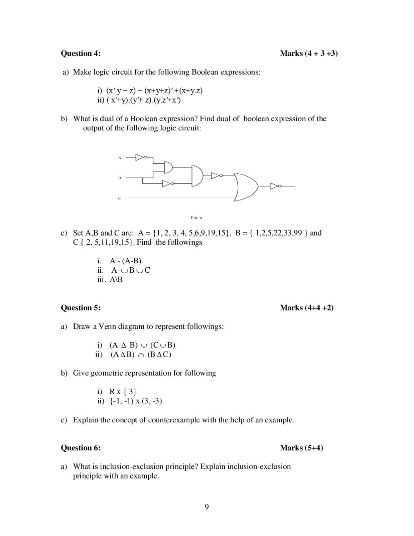 Mca Assignment 2012 13 I Sem By Ignou Issuu Logic Venn Diagram Examples