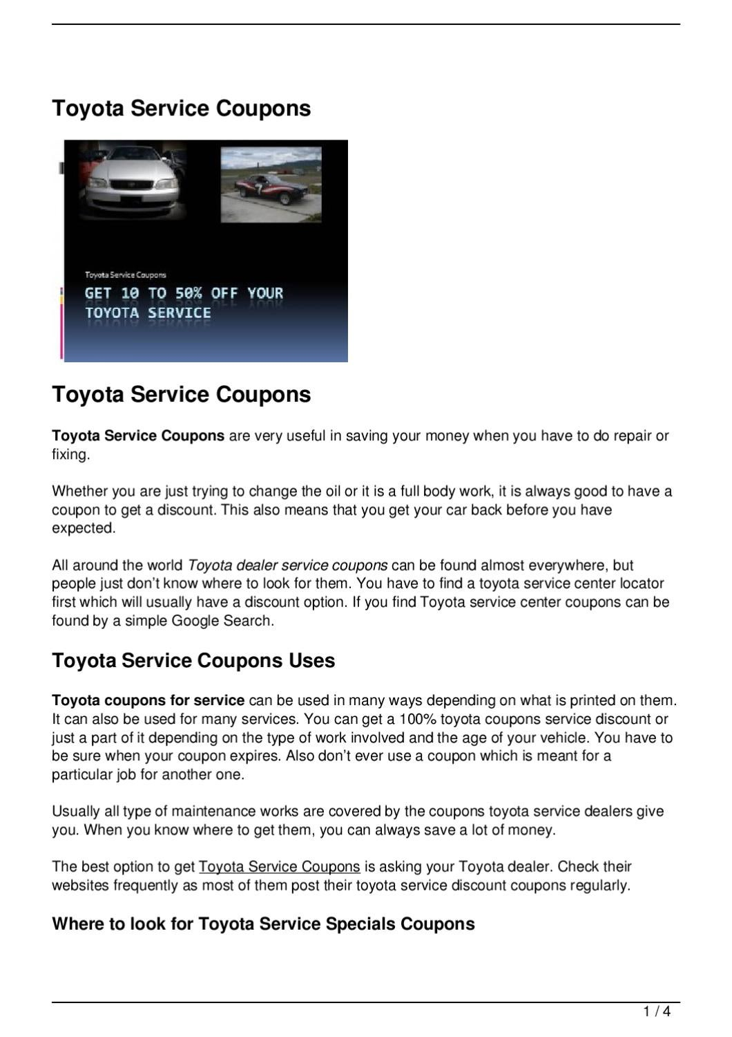 Libertyville toyota service coupons