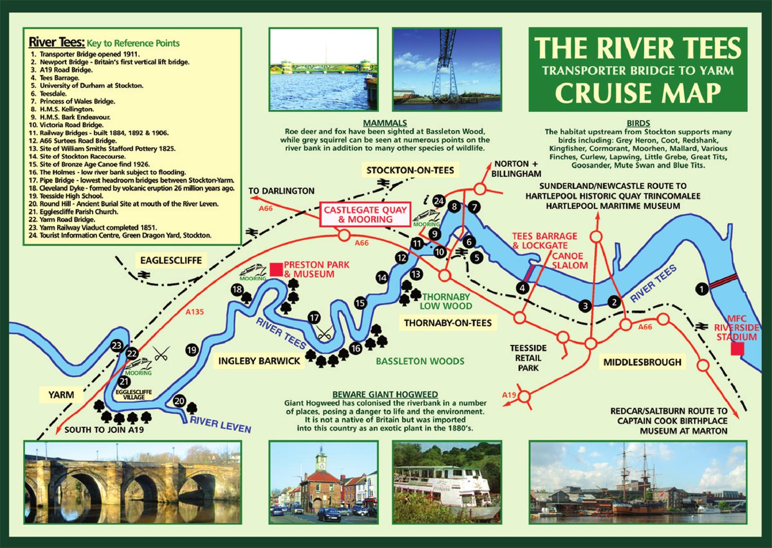 How To Read Plans The River Tees Cruise Map By Stockton Council Issuu