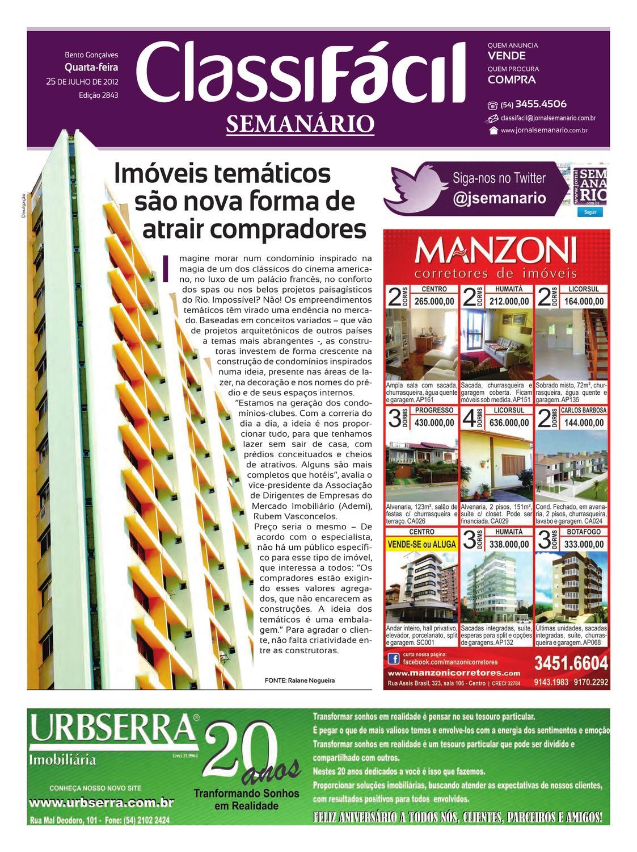 e9a2c3136bf37 25 07 2012 Classificados - Jornal Semanário by jornal semanario - issuu