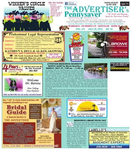 Advertiser North 072612 by Capital Region Weekly Newspapers
