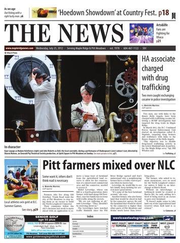 Maple Ridge News, July 25, 2012 by Black Press Media Group