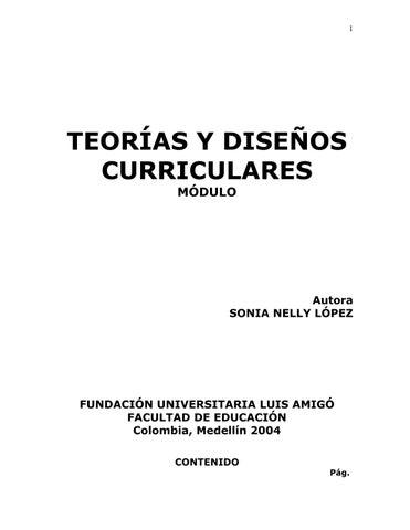 Teorías Y Diseños Curriculares Módulo Funlam By Adriana