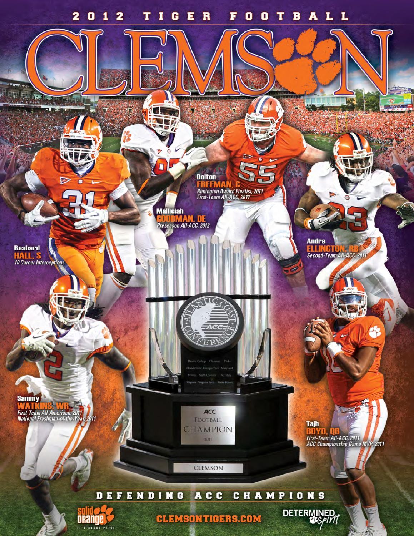 b6987b3d1073 2012 Clemson Football Media Guide by Clemson Tigers - issuu