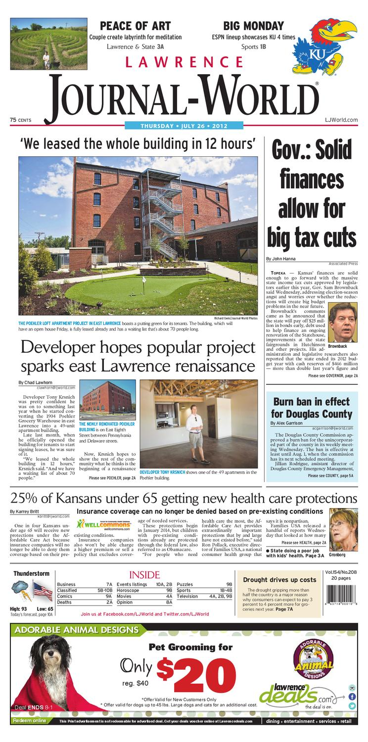 Lawrence Journal World 07 26 12 By Lawrence Journal World Issuu