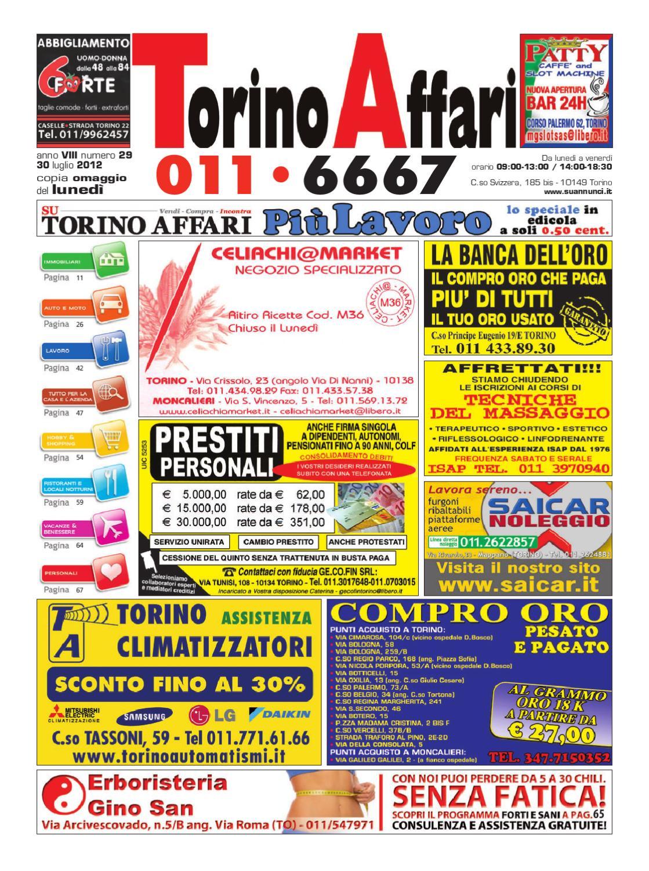 Torino Affari nr. 29 del 30072012 by Giuseppe Contegreco