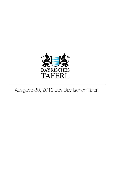 Ausgabe 30 Des Bayrischen Taferl By Bayrisches Taferl Issuu