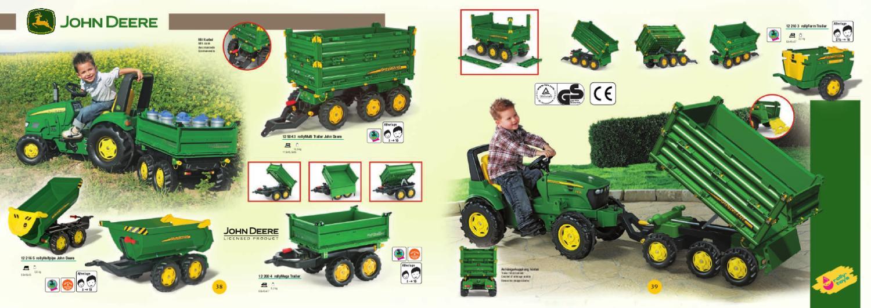 Rimorchio rollyHalfpipe John Deere Rolly Toys