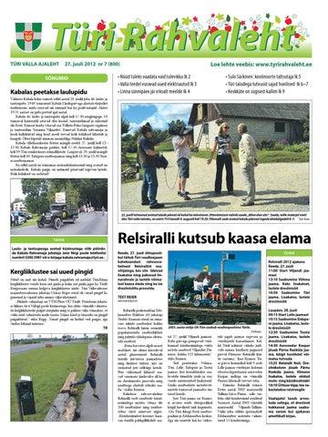 a77794d5b12 27.07.2012 - Türi Rahvaleht by Tyri Development Agency - issuu