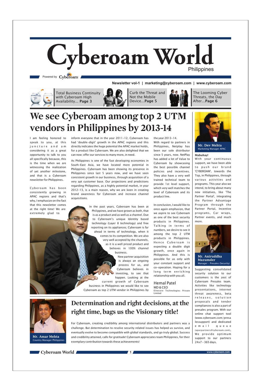 Cyberoam Newsletter - Philippines by Cyberoam UTM - issuu