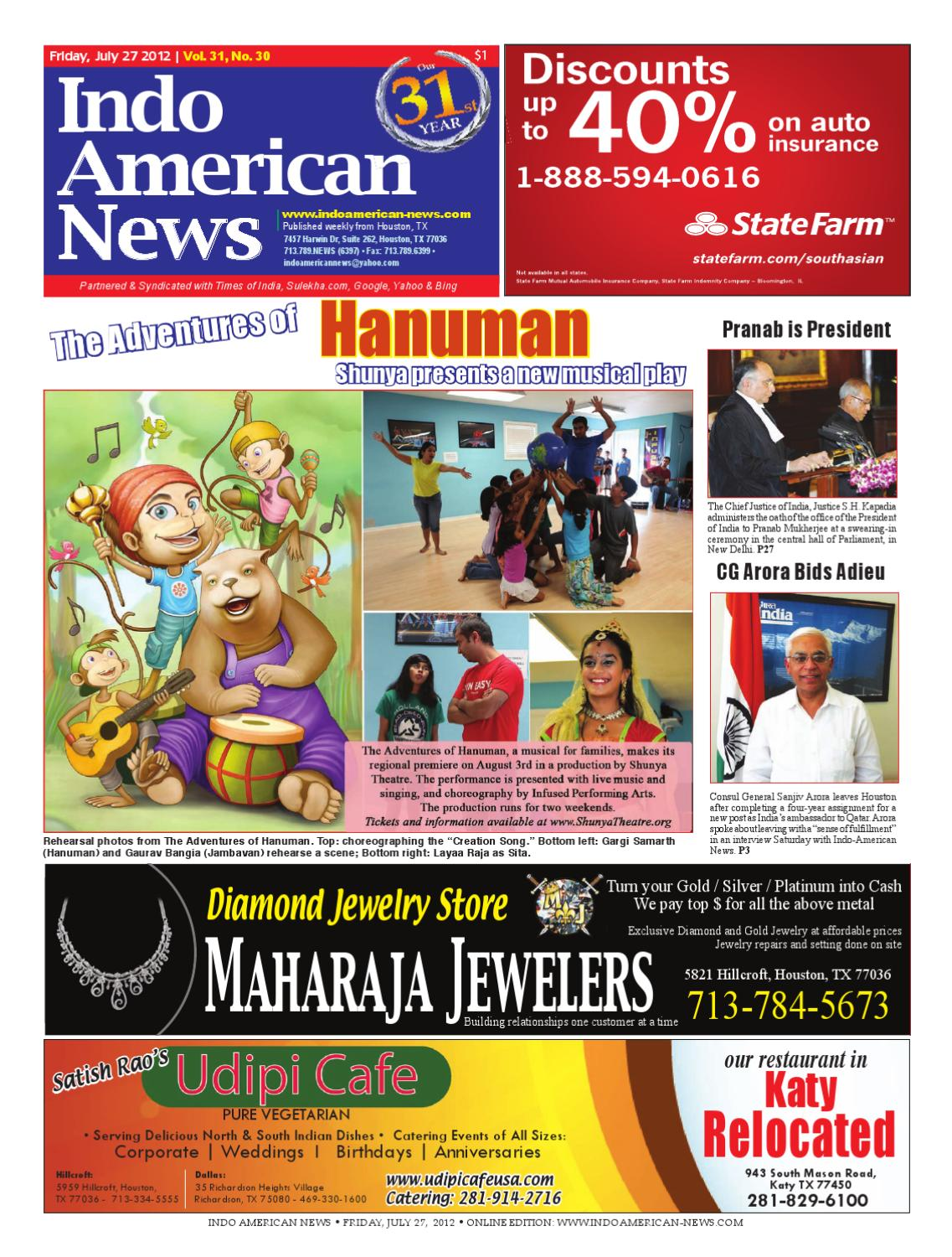 July 27, 2012 e- Newspaper by Indo American News - issuu