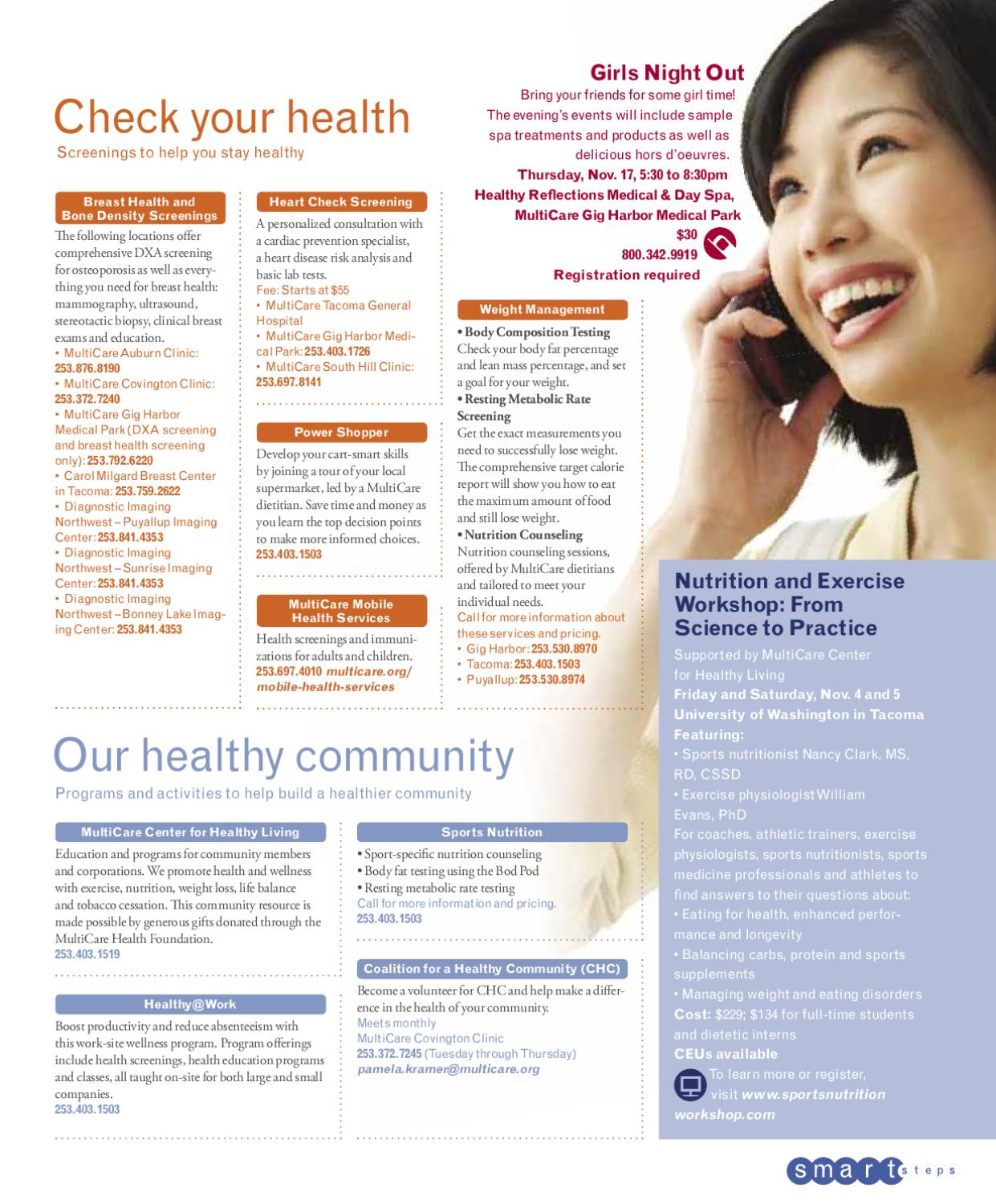 Healthy Living Magazine Fall 2011 By Multicare Health System Issuu