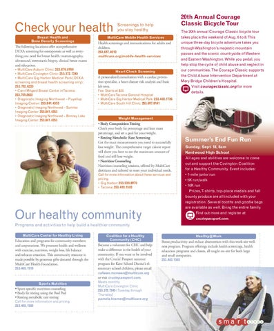 Healthy Living Magazine Summer 2011 By Multicare Health System Issuu