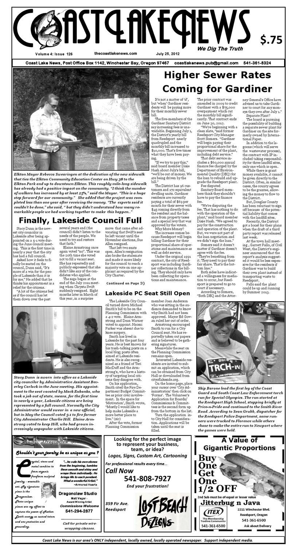 Coast Lake News Vol  4: Issue 126 by Jessica Lloyd-Rogers