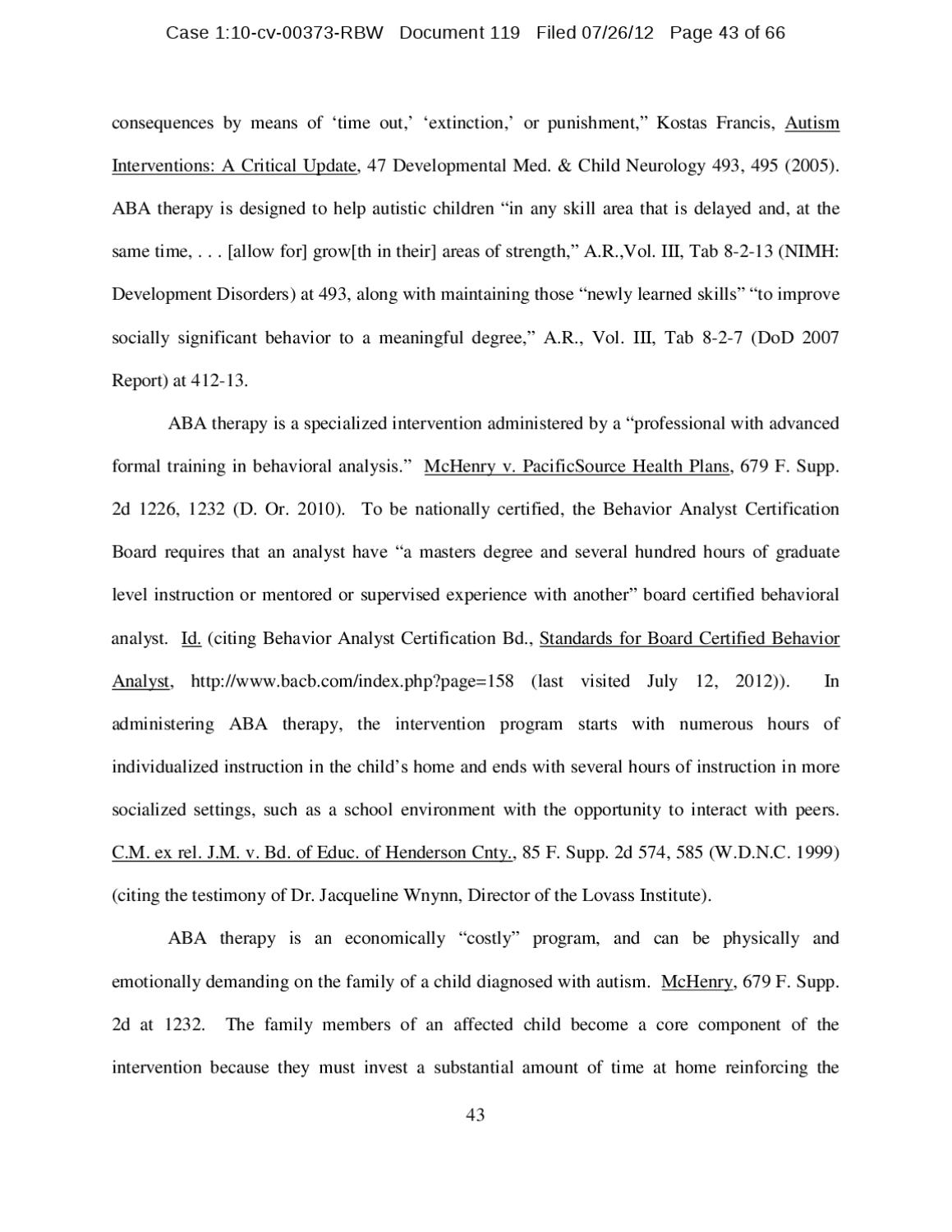 Military Autism Aba Class Action Lawsuit Decision By Squid 1125 Issuu
