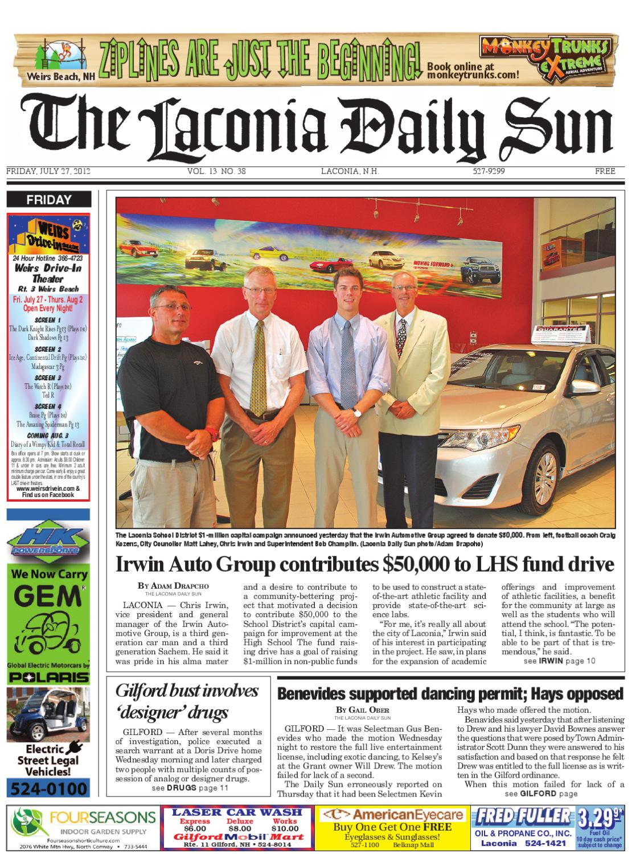 The Laconia Daily Sun July 27 2012 By Issuu Speaker Diablo Vx 603 Dw