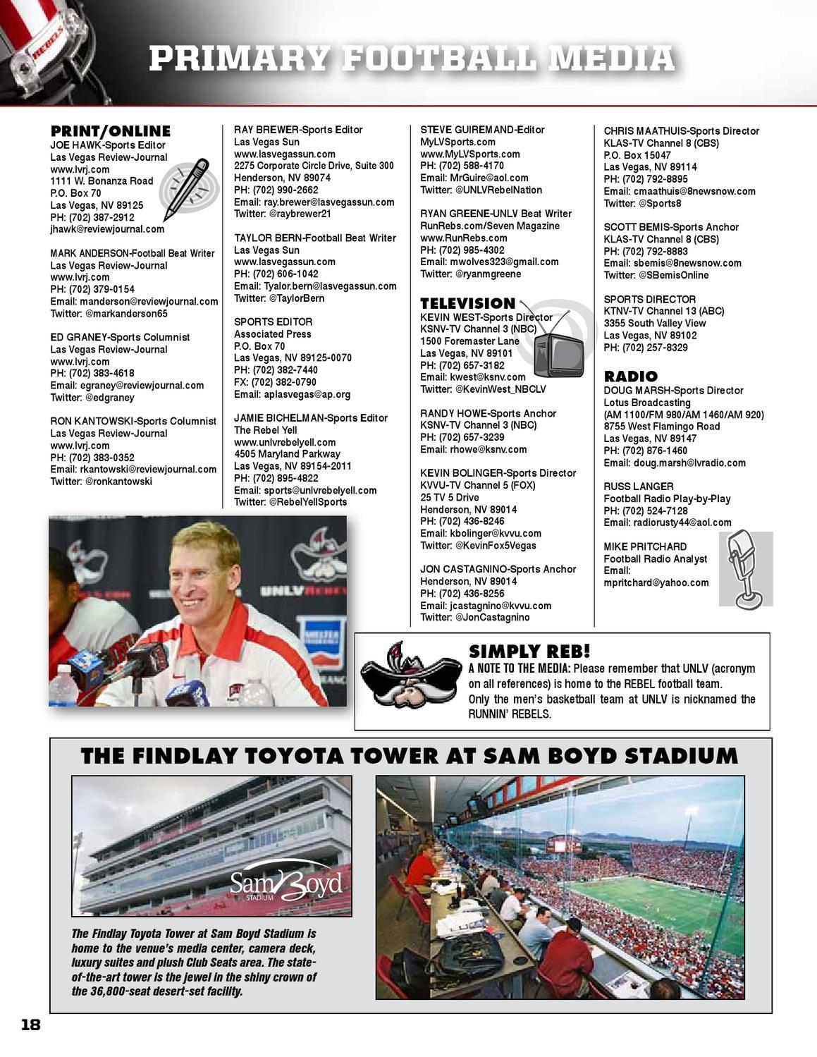 2012 UNLV Football Media Guide by UNLV Sports Information