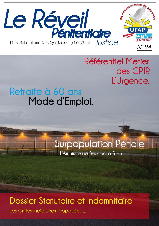 Le reveil p nitentiaire n 94 by ufap unsa justice issuu - Grille salaire surveillant penitentiaire ...