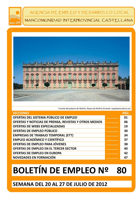 BOLETIN DE EMPLEO Nº 80 by AEDL MIC - issuu