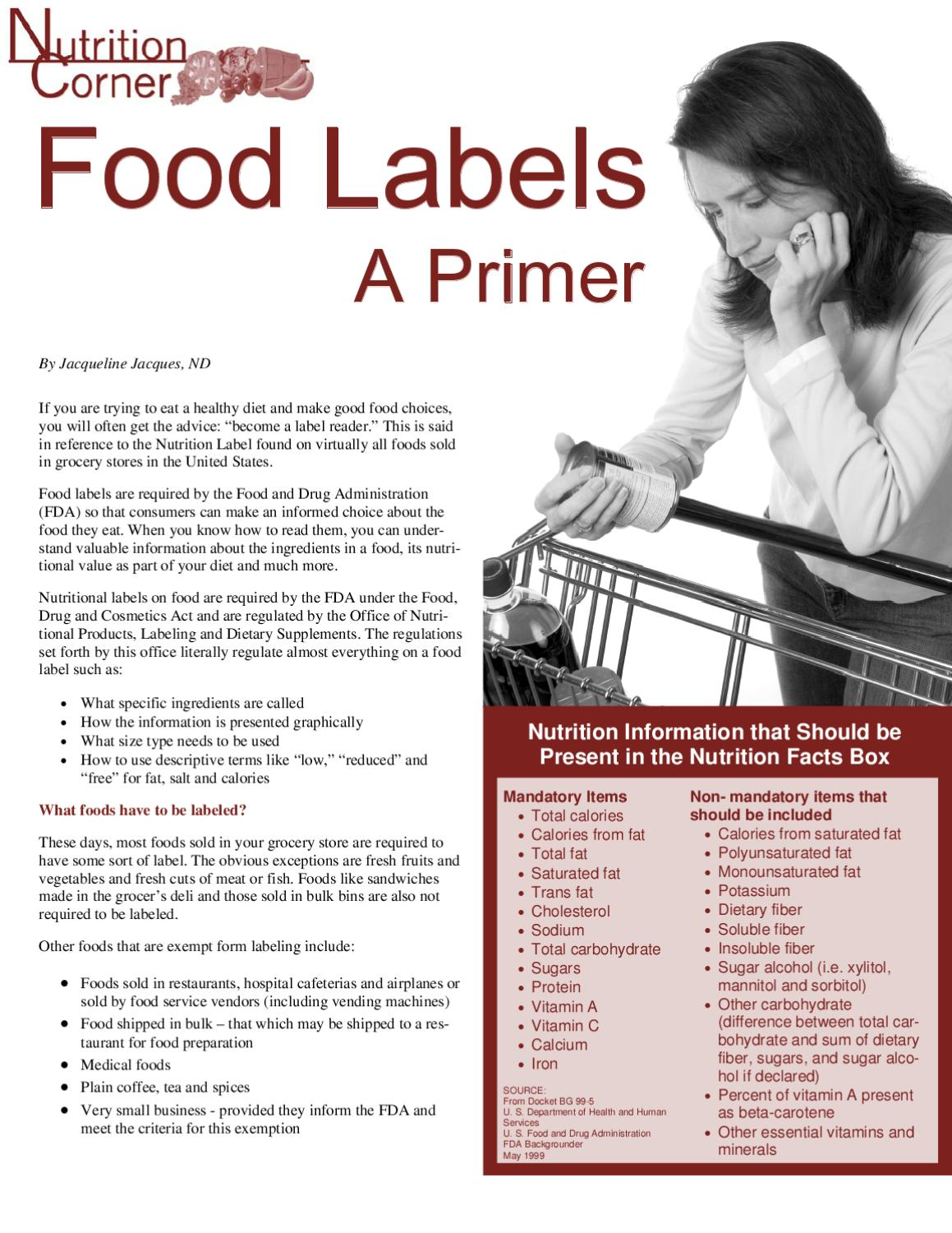 Food-Labels Dr Jacques by The GI and Bariatric Nutrition