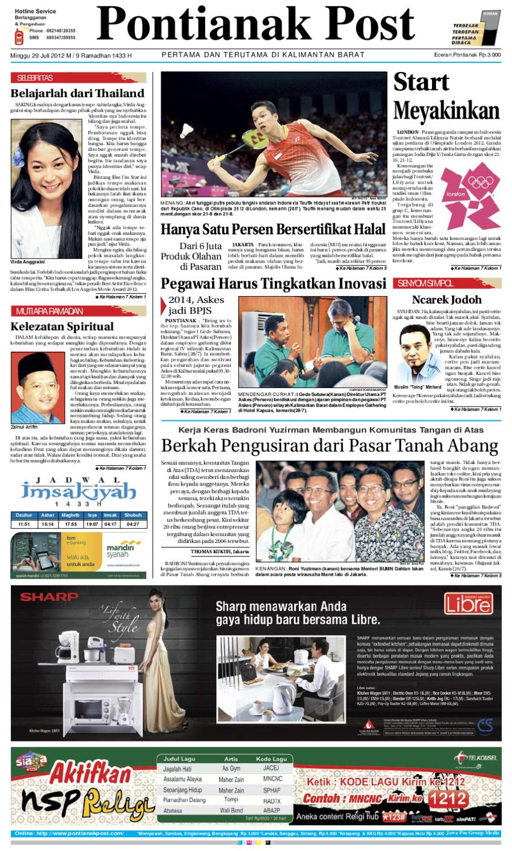 Pontianak Post By Issuu Produk Ukm Bumn Kain Batik Middle Premium 3 Bendera 01