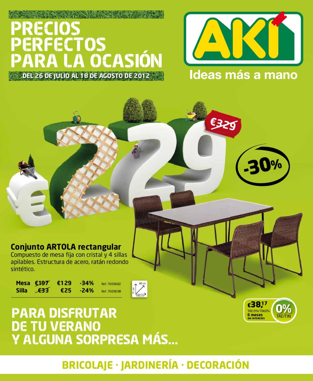 Catalogo aki agosto 2012 by issuu for Seto redondo artificial