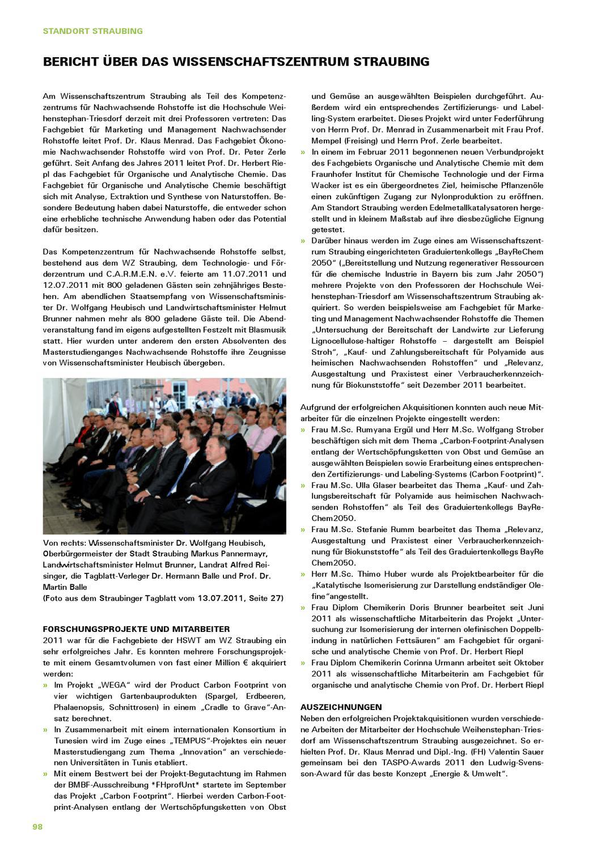 Jahresbericht 2011 der Hochschule Weihenstephan-Triesdorf by ...