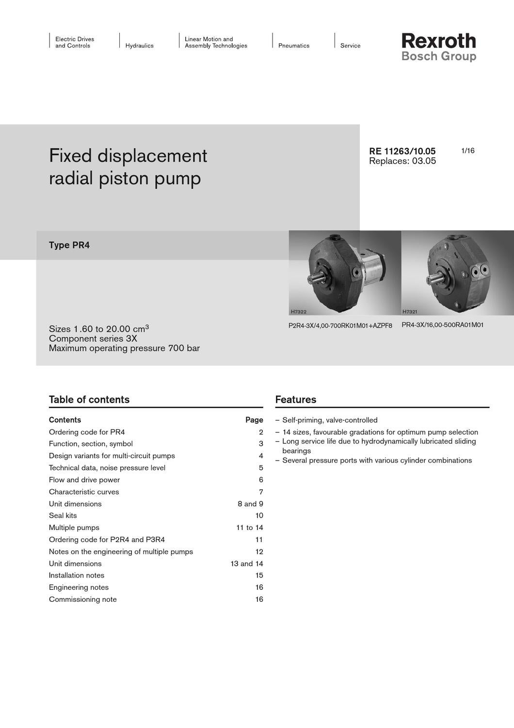 Specifications rexroth radial pistonpump pr4 3x by mh hydraulics issuu biocorpaavc Images