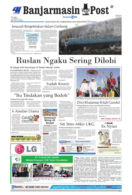 Banjarmasin Post Edisi Cetak Selasa 31 Juli 2012 By Ngabuburit 3 Samsung Galaxy S8 Garansi Resmi Sein Issuu