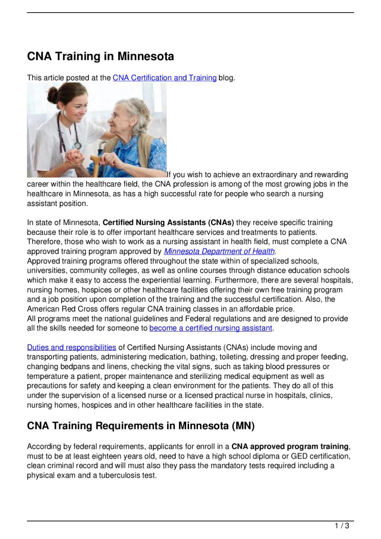 Cna Training In Minnesota By Becky Vallejo Issuu
