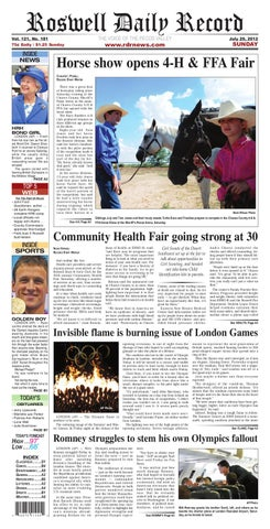 e4417a4401 rdr newspaper 7-29-12 by Roswell Daily Record - issuu