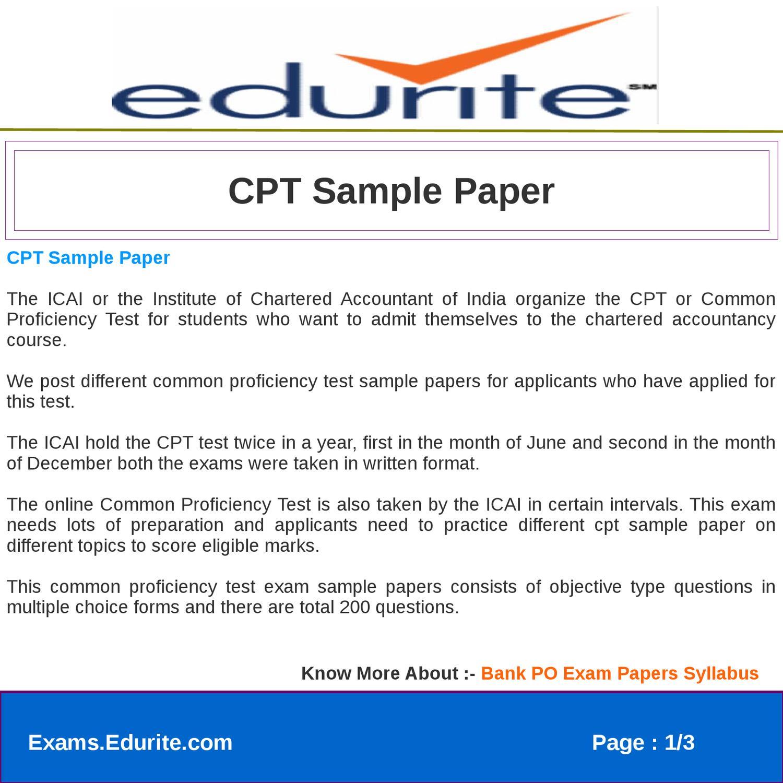 Proficiency exam sample