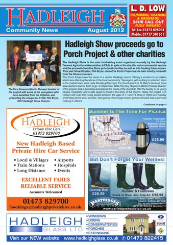 Hadleigh community news august 2012 by keith avis printers issuu page 1 fandeluxe Choice Image
