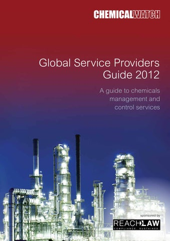 cd7afc8c5e24 Chemical Watch Global Service Providers Guide 2012 by Chemical Watch ...