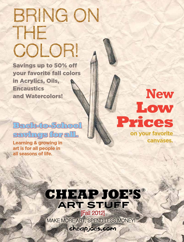 Cheap Joe's Art Stuff - Fall Sales Event 2012 by Cheap Joe ...