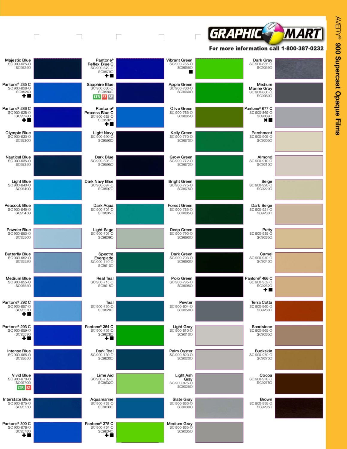 Avery color chart 2012 by graphic mart issuu nvjuhfo Image collections