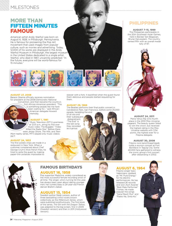 Mabuhay Magazine, August 2012 by Eastgate Publishing