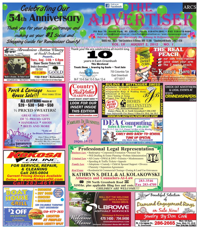 Advertiser south 080212 by capital region weekly newspapers issuu fandeluxe Gallery