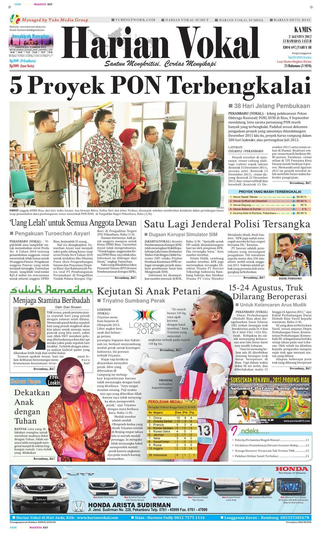 Harian Vokal Edisi 2 Agustus 2012 By Riau Publisher Issuu