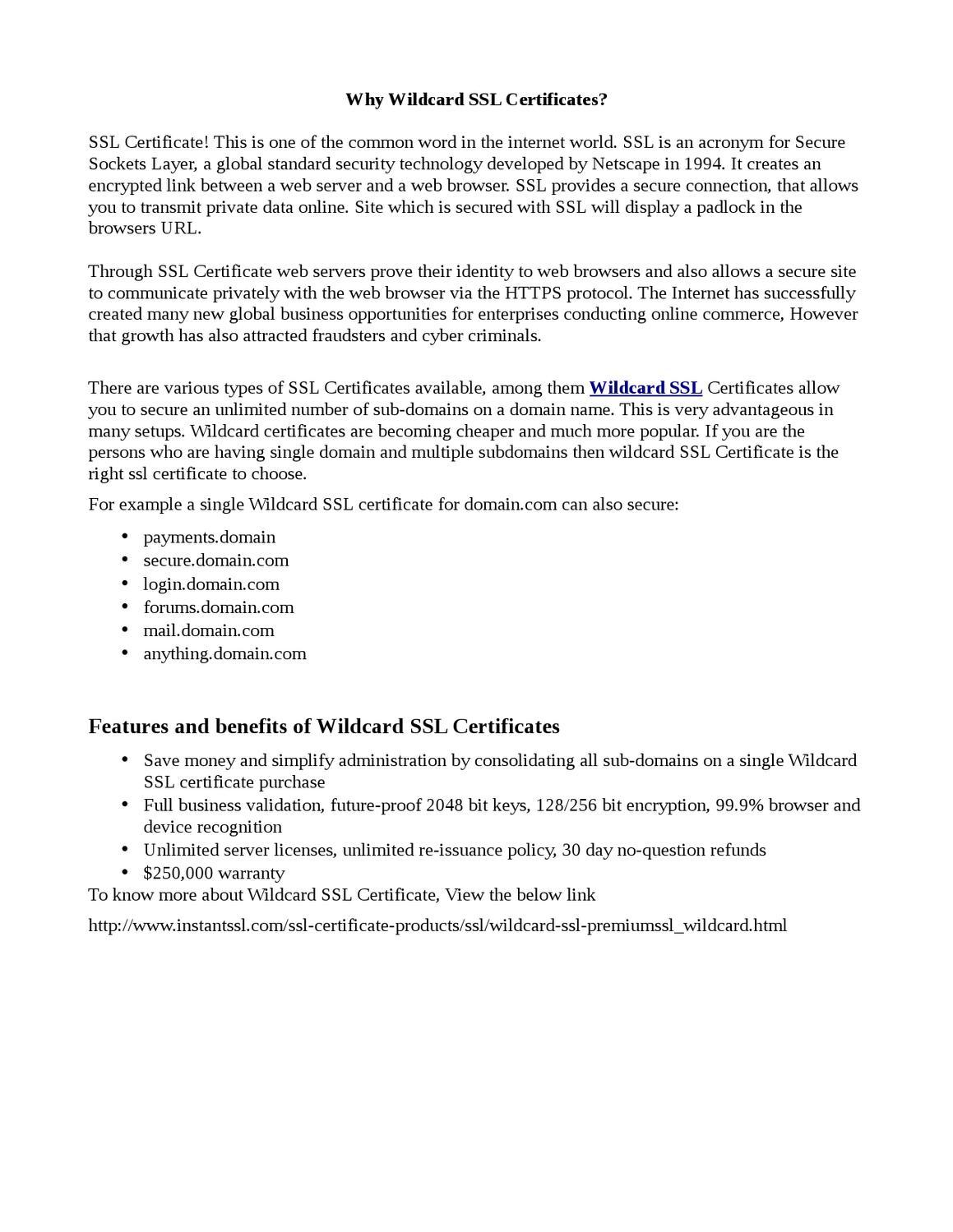 Why Wildcard Ssl Certificates By Carolina Rio Issuu